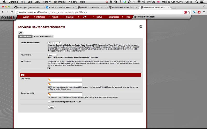 Router - PFSense - AAISP Support Site